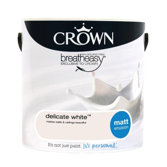 Crown Matt Emulsion 2.5L Delicate White