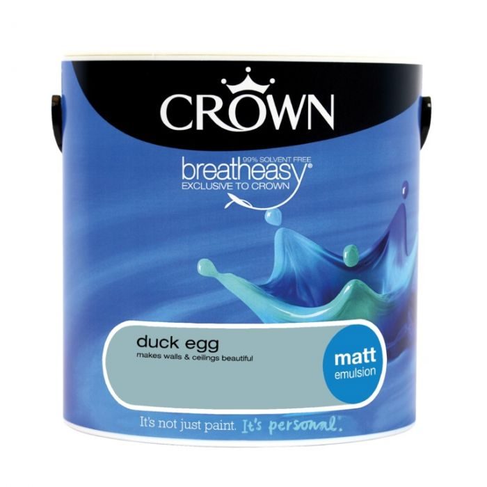 Crown Matt Emulsion 2.5L Duck Egg