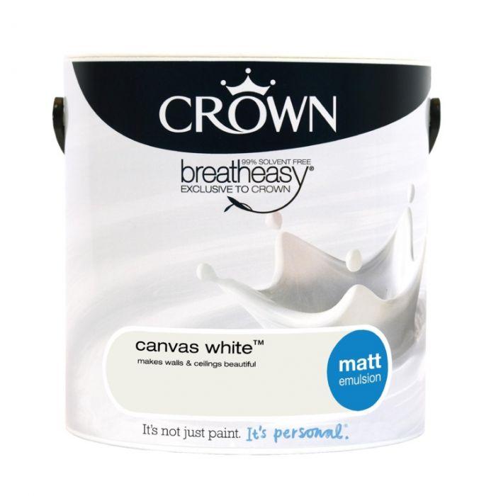 Crown Matt Emulsion 2.5L Canvas White