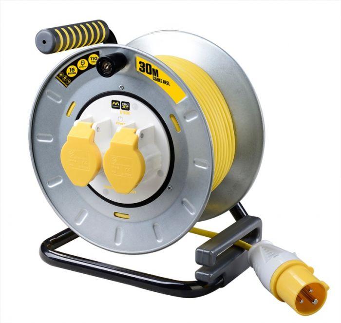 Pro Xt Cable Reel 110V 2 Gang 30M