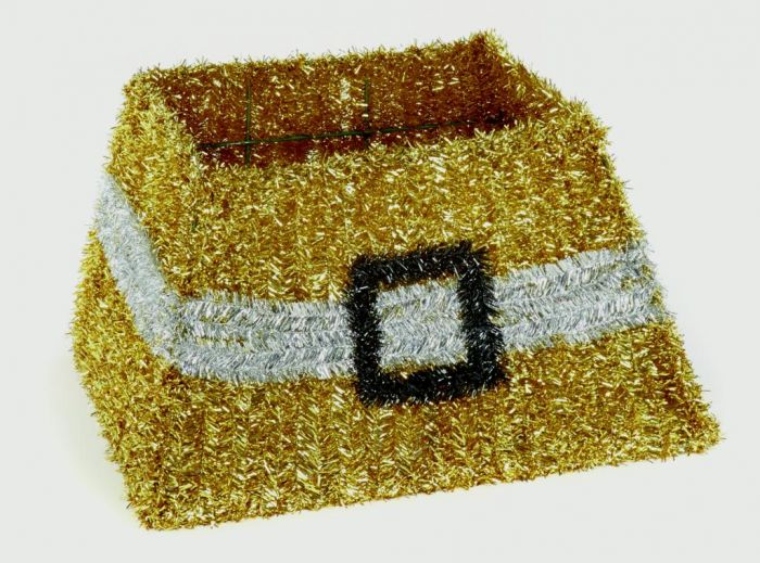 Gold Tinsel Tree Skirt