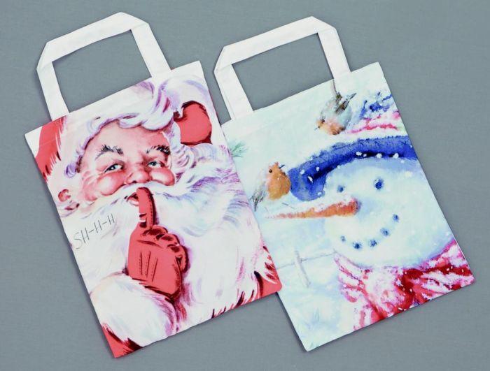 Santa Snowman Shopping Bag