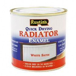 Rustins Radiator Enamel Satin 250Ml