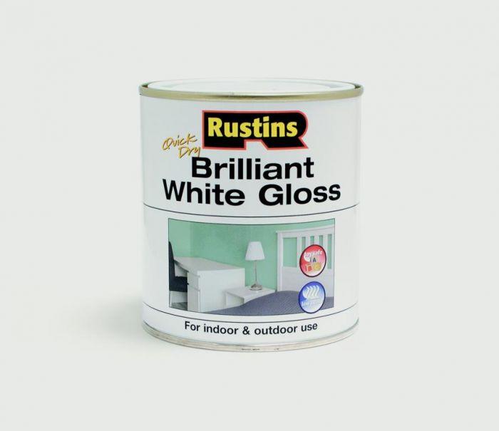 Rustins Quick Drying White Gloss 500Ml