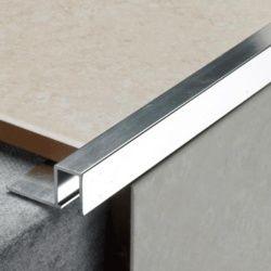 Tile Rite Silver Listello Strip Tiles 2.44M X 12Mm