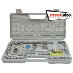 Streetwize Socket Set Carbon Steel 52 Pieces