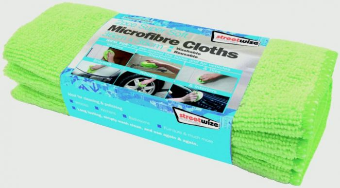 Streetwize Microfibre Glass Towel 2 Piece