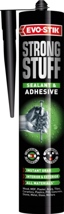 Evo-Stik Strong Stuff Sealant Adhesive White 290Ml