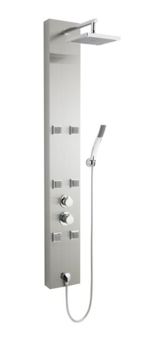 Ultra Finishing Easton Thermostatic Shower Panel Stainless Steel
