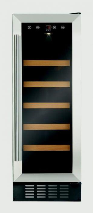 Cda Slim Line Wine Cooler Stainless Steel 300Mm