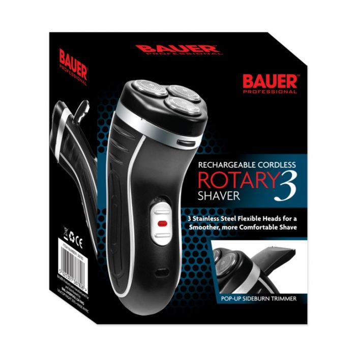 Bauer Smooth Action Cordless Rotary 3 Shaver 3-Head Rechargeable