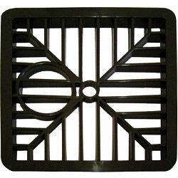 Select Gully Grid Square Black 6