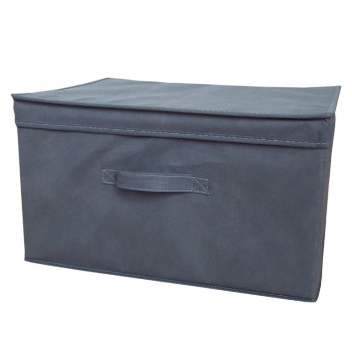 H & L Russel Foldable Storage Box With Lid Medium