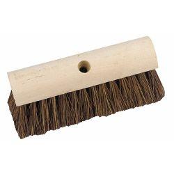 Hbc Yard/Garden Broom - Plain Stock Extra Stiff Cane/Bassine 10