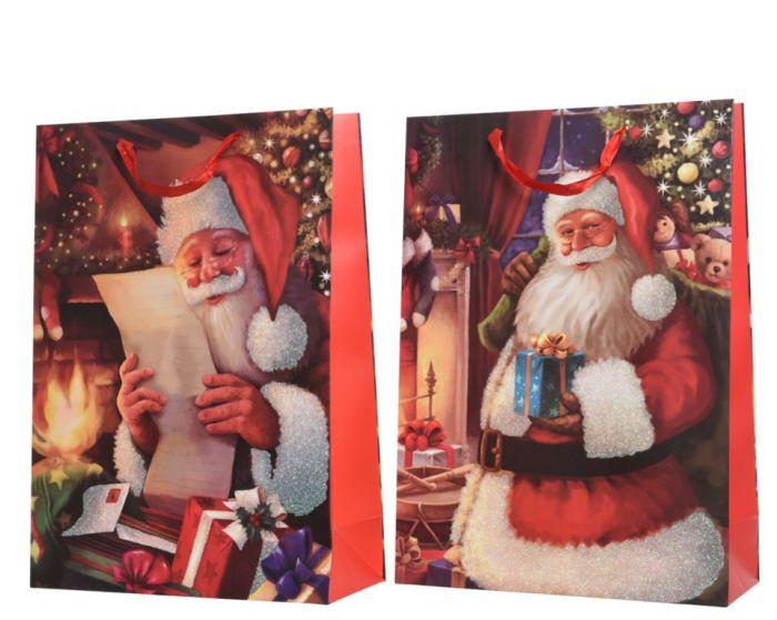 Reading Santa Gift Bag