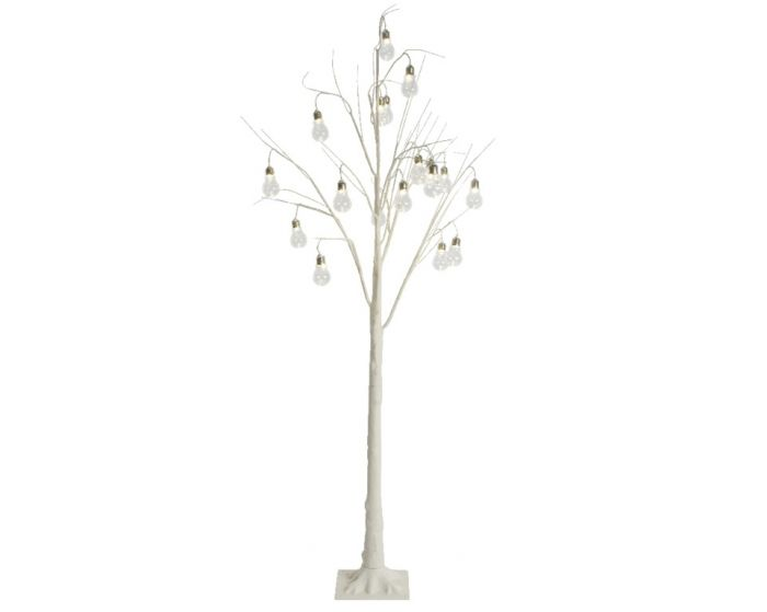 Led White Tree With Bulbs