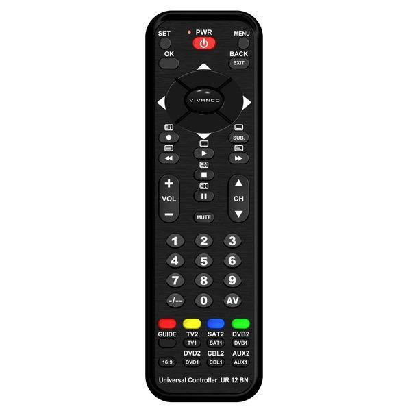 Vivanco 12 In 1 Remote Control Black