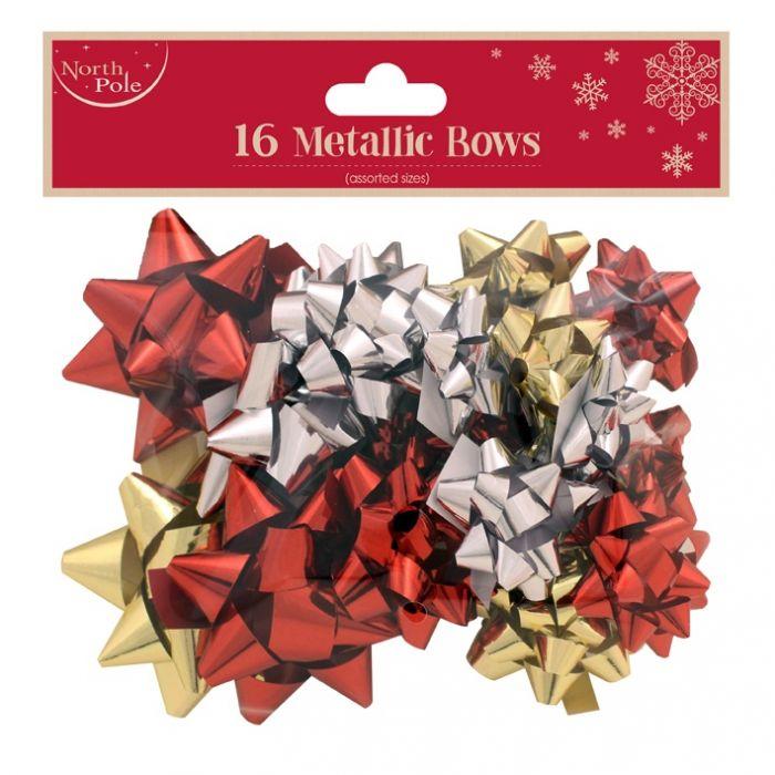 16 Mixed Metalic Bows