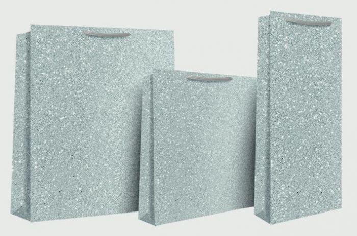 Silver Glimmer Bottle Bag