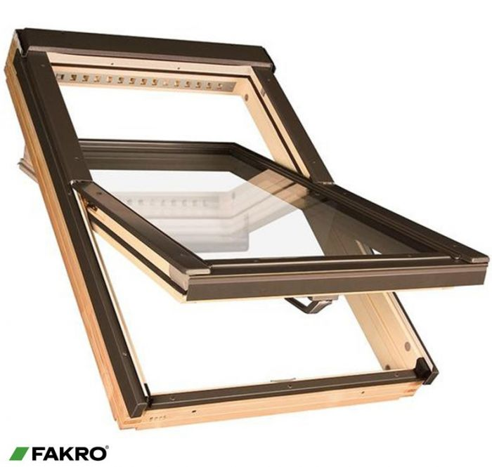 Fakro Pine Centre Pivot Window 55 X 98Cm