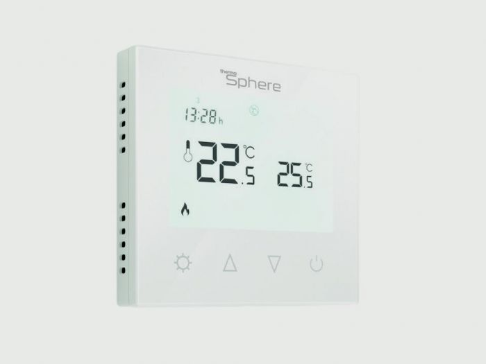 Thermosphere Programmable Thermostat White Glass 16A