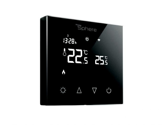 Thermosphere Programmable Thermostat Black Glass 16A