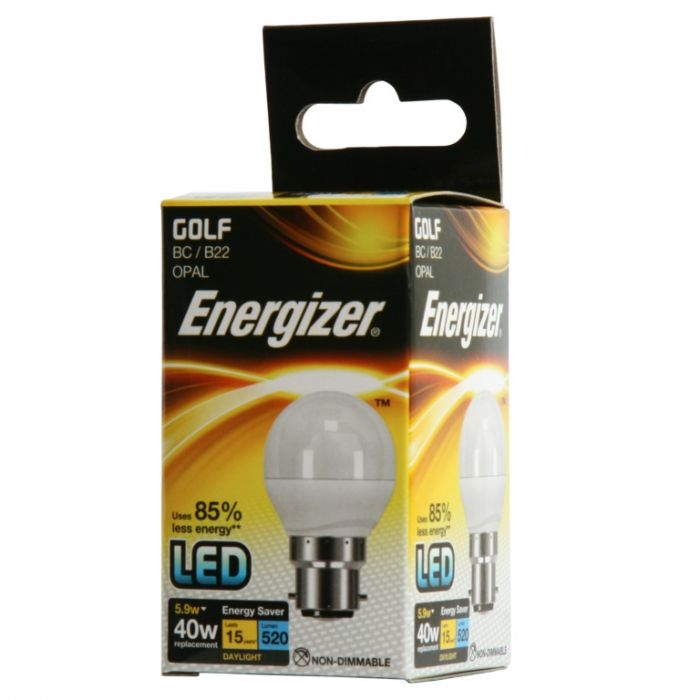 Energizer Led Golf 5.9W B22 Boxed