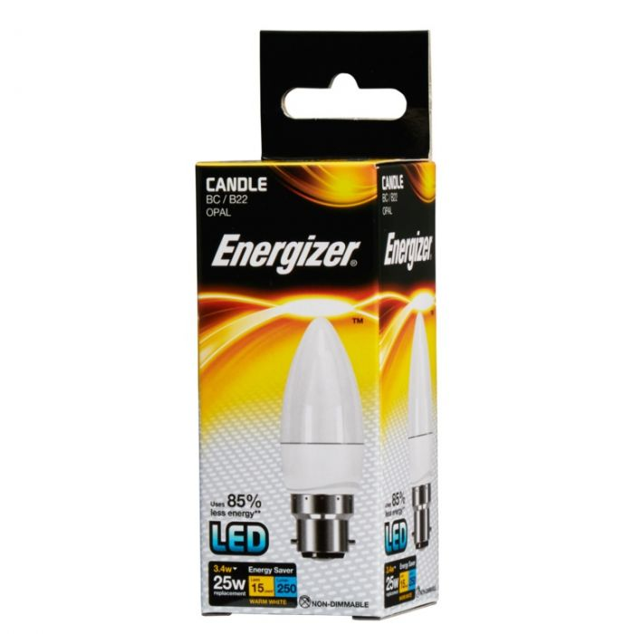 Energizer Led Candle 3.4W B22 Boxed
