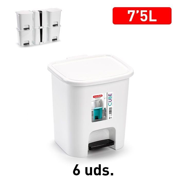 Plasticforte Pedal Bin 7.5L White