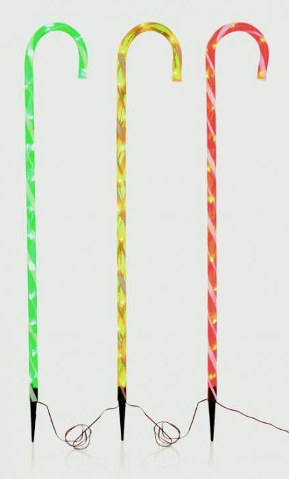 3 Piece Candy Cane Path Light 45 Leds