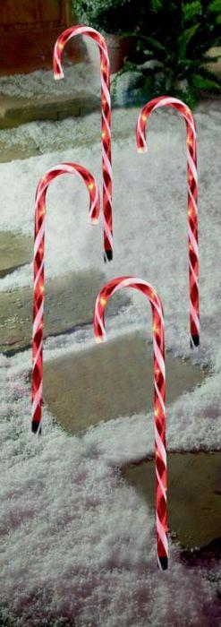 4 Piece Candy Cane Path Light 40 Leds
