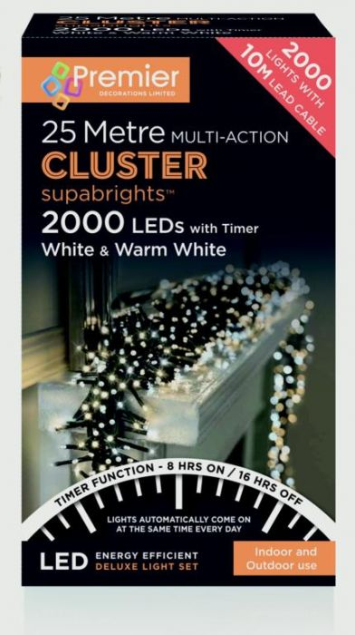 Multi Action Led Clusters Timer White With Warm White