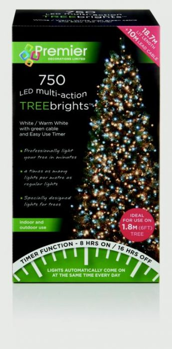 Multi-Action Treebrights With Timer White Warm White