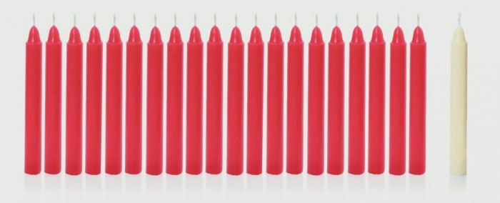 Mini Red And Ivorycandles In Pvc Box