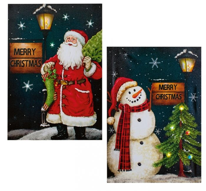 Battery Operated Santa Or Snowman Canvas Print