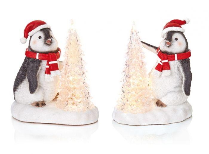 Assorted Led Penguin Christmas Tree Scene