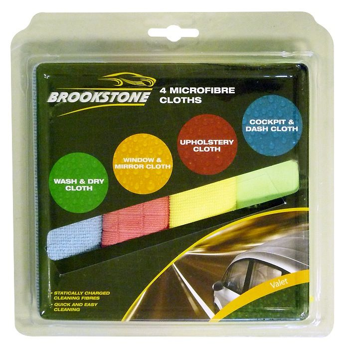 Brookstone Valet Microfibre Cloths 4 Pack