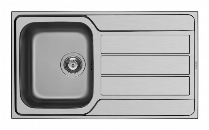 Pyramis Athena Stainless Steel Single Bowl Sink & Tap 860 X 500Mm