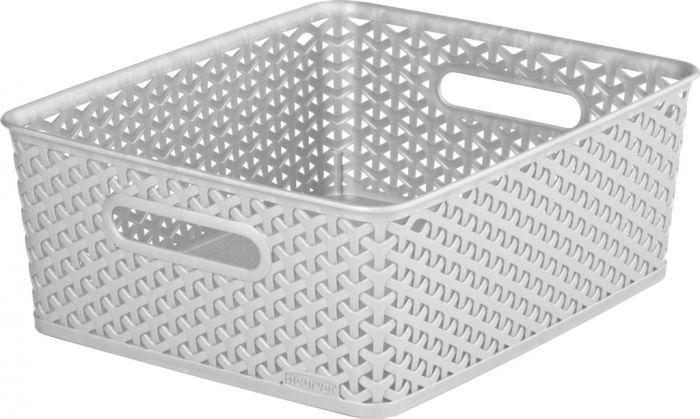 Curver Nestable Rattan Basket 13L Grey