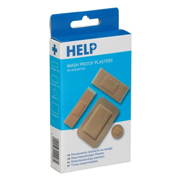 Help Washproof Plasters Assorted Pack 40