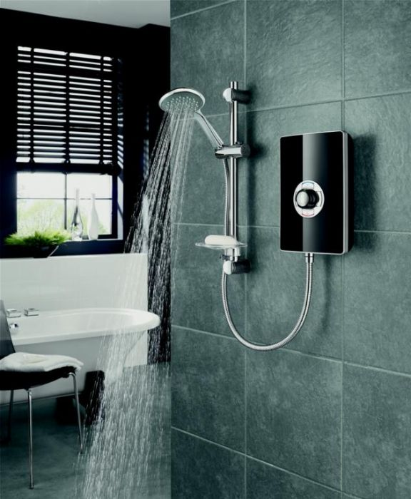 Triton Collection Ii 9.5Kw Electric Shower Black Gloss