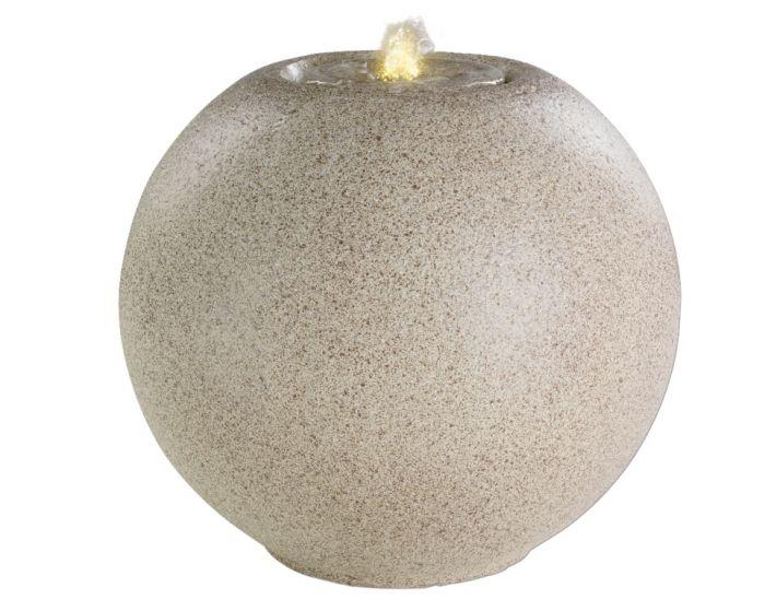 Kaemingk Led Grecian Granite Ball Fountain Cream