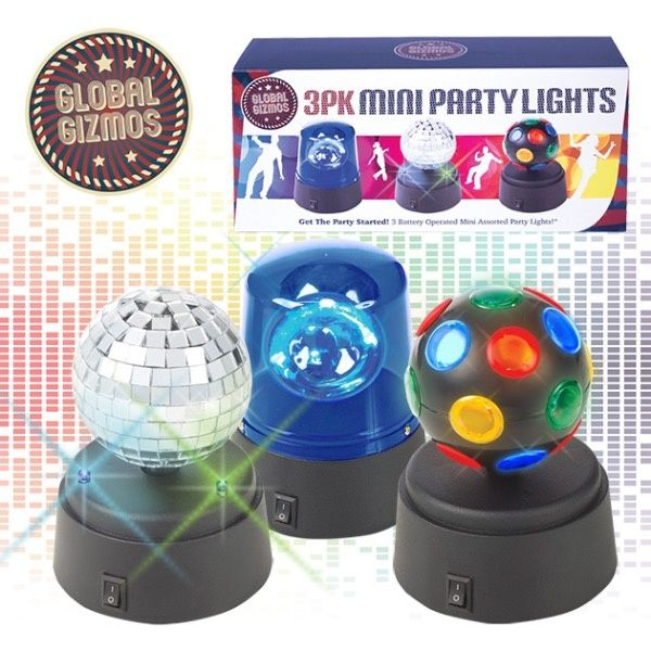 Global Gizmos Mini Party Light Set Pack 3