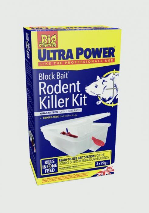 The Big Cheese Ultra Power Block Bait Rodent Killer Kit