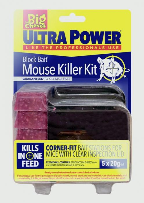 The Big Cheese Ultra Power Block Bait� Mouse Killer Station Refills