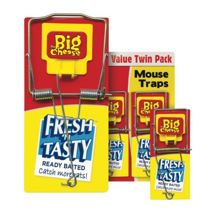 The Big Cheese Fresh Baited Mouse Trap Twinpack