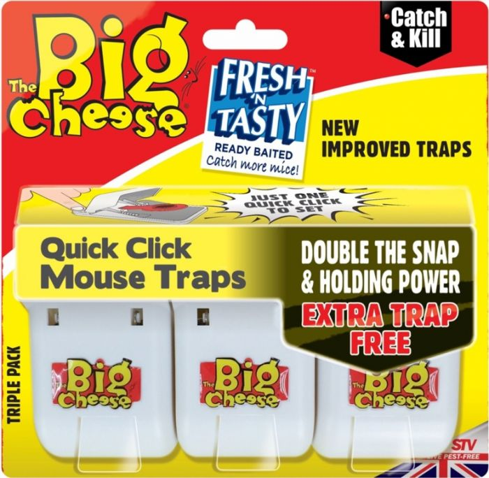 The Big Cheese Quick Click Mouse Traps 3 Pack