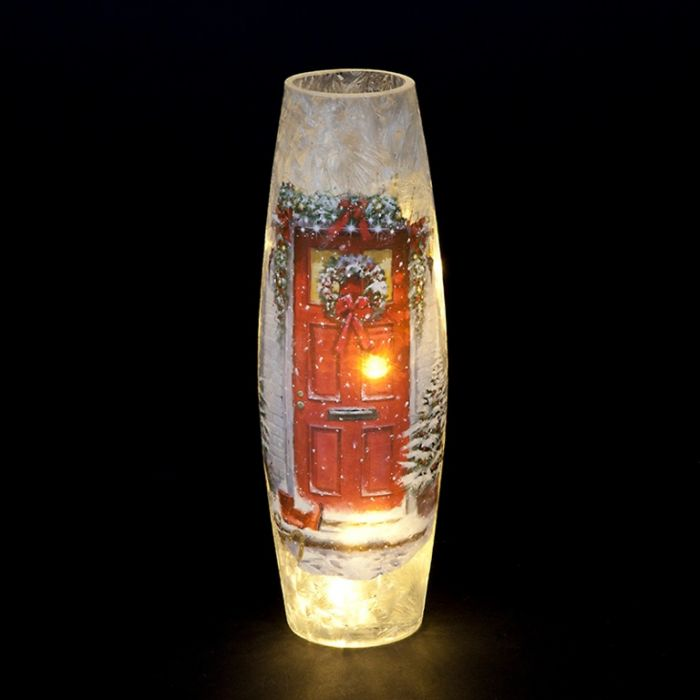 Lit Garland Door Vase