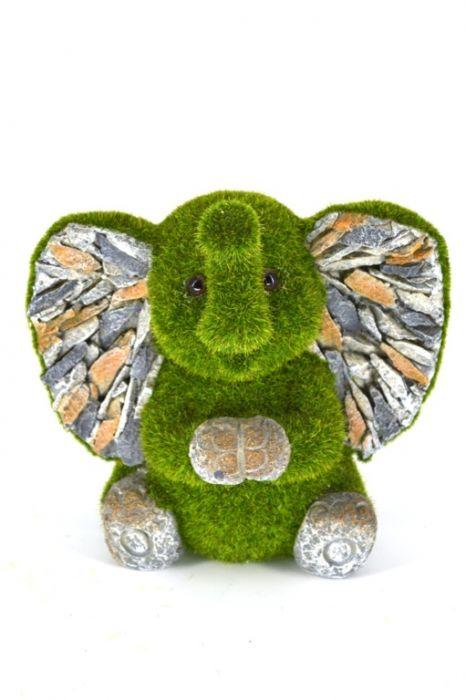 Kent Collection Flocked Sitting Elephant