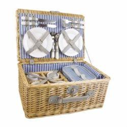 Yellowstone Luxury Wicker Basket 4 Person